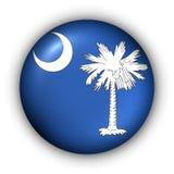 Bandierina rotonda della condizione degli S.U.A. del tasto di Carolina del Sud Fotografia Stock
