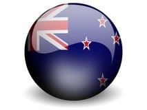 Bandierina rotonda della Nuova Zelanda Fotografia Stock
