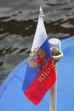 Bandierina russa Fotografie Stock