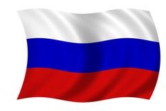 Bandierina russa Immagini Stock Libere da Diritti