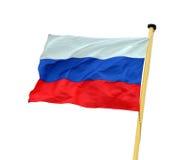 Bandierina russa Immagine Stock