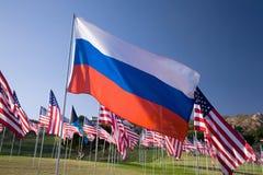 Bandierina russa fra i 3000 Immagini Stock Libere da Diritti