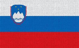 Bandierina slovena lavorata a maglia Fotografie Stock