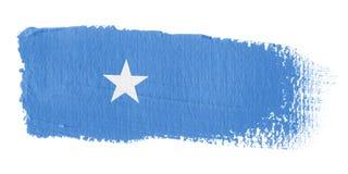Bandierina Somalia di Brushstroke Fotografie Stock Libere da Diritti