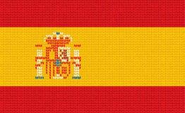 Bandierina spagnola lavorata a maglia Fotografia Stock Libera da Diritti