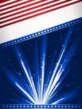 Bandierina stilizzata degli S.U.A. Immagine Stock