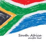 Bandierina sudafricana Immagini Stock