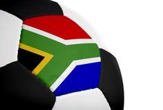 Bandierina sudafricana - gioco del calcio fotografie stock