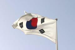 Bandierina sudcoreana Fotografie Stock