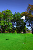 Bandierina sul terreno da golf Fotografie Stock