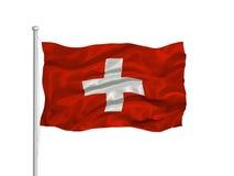 Bandierina svizzera 2 illustrazione di stock