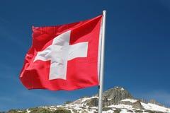 Bandierina svizzera Immagini Stock