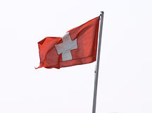 Bandierina svizzera immagini stock libere da diritti