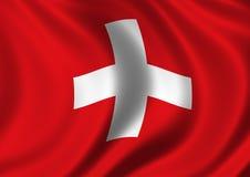 Bandierina svizzera Fotografia Stock Libera da Diritti