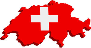 Bandierina svizzera stilizzata Fotografie Stock