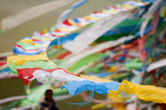 Bandierina tibetana di preghiera Immagine Stock