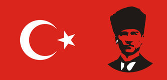 Bandierina turca Immagine Stock Libera da Diritti
