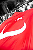 Bandierina turca gigante Fotografie Stock Libere da Diritti