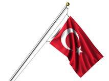 Bandierina turca isolata Fotografie Stock Libere da Diritti