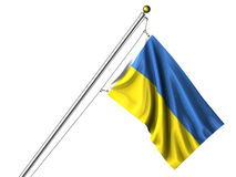 Bandierina ucraina isolata Fotografie Stock Libere da Diritti