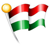 Bandierina ungherese Immagini Stock Libere da Diritti