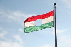 Bandierina ungherese Fotografie Stock Libere da Diritti