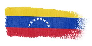 Bandierina Venezuela di Brushstroke Immagine Stock Libera da Diritti