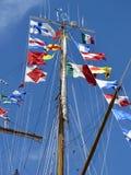 Bandierine alte della nave Fotografia Stock