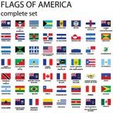 Bandierine americane del continente Fotografia Stock Libera da Diritti