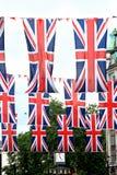 Bandierine britanniche Immagini Stock Libere da Diritti
