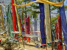 Bandierine buddisti di preghiera Immagini Stock