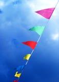 Bandierine che saltano nel vento Fotografia Stock Libera da Diritti