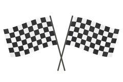 Bandierine Checkered immagine stock libera da diritti