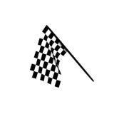 Bandierine Checkered Fotografia Stock Libera da Diritti