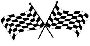 Bandierine Checkered Immagini Stock Libere da Diritti