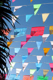 Bandierine colorate Fotografie Stock Libere da Diritti