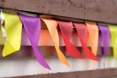 Bandierine colorate Fotografia Stock