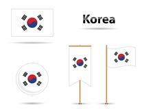 Bandierine coreane Fotografia Stock Libera da Diritti