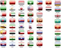 Bandierine degli Asiatici dei paesi Fotografia Stock