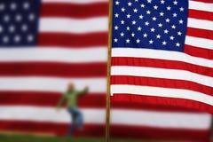 Bandierine degli Stati Uniti Fotografie Stock Libere da Diritti