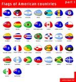 Bandierine dei Americas Fotografia Stock Libera da Diritti