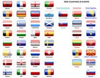 Bandierine dei paesi europei Fotografie Stock Libere da Diritti
