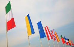 Bandierine dei paesi europei Fotografia Stock Libera da Diritti