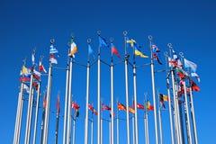 Bandierine dei paesi europei Fotografia Stock