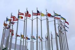 Bandierine dei paesi europei Immagini Stock Libere da Diritti