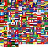 Bandierine del mondo (240 bandierine) Fotografia Stock Libera da Diritti