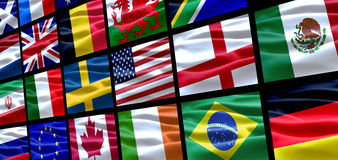 Bandierine del mondo Immagine Stock Libera da Diritti