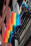 Bandierine del Rainbow Immagine Stock Libera da Diritti