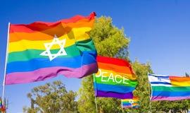 Bandierine del Rainbow Fotografia Stock Libera da Diritti