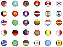 Bandierine del world_3 Immagini Stock Libere da Diritti